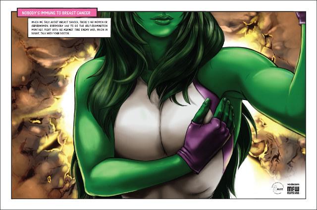 She-hulk breast self-exam